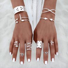 Fashion, Jewelry, Beauty, 8pcsknucklering