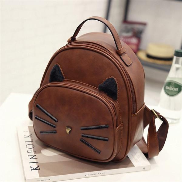 brown, teenage, leather, Backpacks