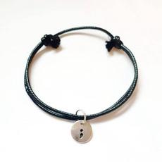 mentalhealthbracelet, daintybracelet, Jewelry, semicolonbracelet