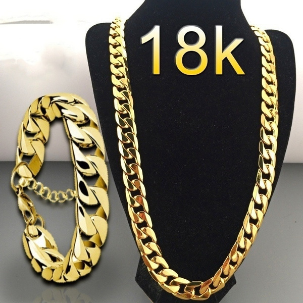 yellow gold, goldplated, Chain Necklace, Fashion