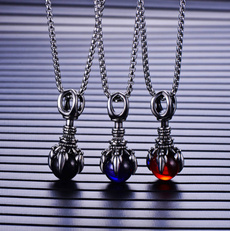 Fashion, punk necklace, Glass, Stainless Steel