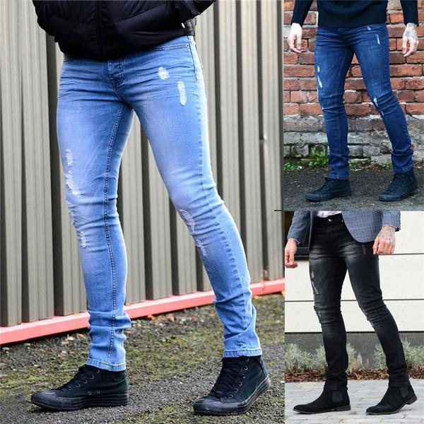 men's jeans, trousers, pants, rippedjean