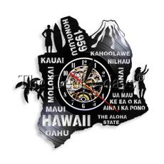 molokaikauaikahoolawenilhauhawaii, Wall Art, Home Decor, Clock
