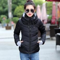 hooded, Winter, cottonpaddedjacket, Cotton-padded clothes