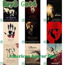 americanhorrorfilm, posters & prints, Wall Art, Home Decor