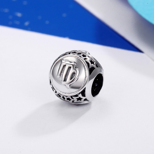 virgocharm, Sterling, charms for pandora bracelets, 925 sterling silver