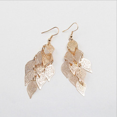 Girlfriend Gift, leaf, Jewelry, Exquisite Earrings