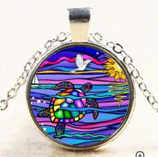 Turtle, rainbow, Fashion Accessory, Fashion necklaces