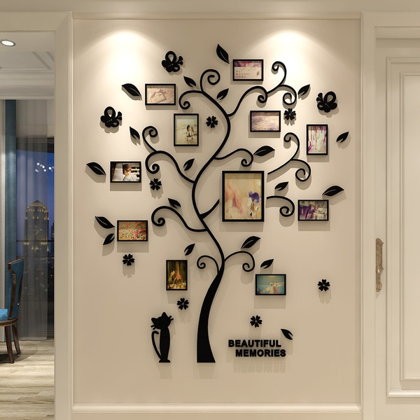 3d Acrylic Crystal Wall Stickers Living, Wall Decals For Living Room