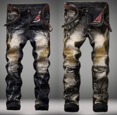 men jeans, Plus Size, pants, rippedjean