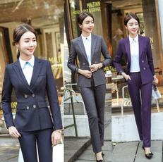 blazersuit, womentrouserssuit, women pants suit, Sleeve