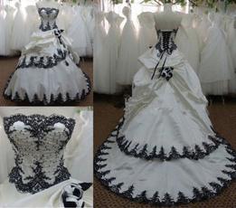 gowns, strapless, Bride, Bridal wedding