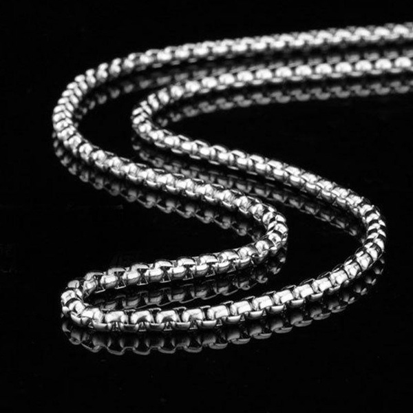 White Gold, Chain Necklace, mens necklaces, gold