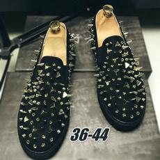 rivetshoe, casual shoes, Fashion, leather shoes