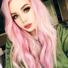 pink, black, Fashion, Cosplay