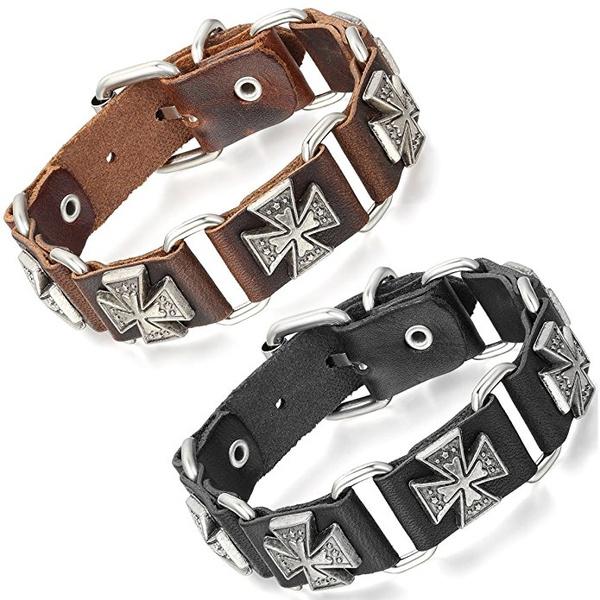Bracelet, cuff bracelet, multiplecrossesbracelet, menswomensbracelet