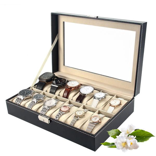 Box, watchstorage, Jewelry, leather