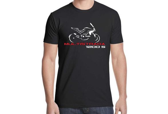 T-shirt maglia per moto DUCATI MULTISTRADA 1200 S battito cuore TSHIRT maglietta