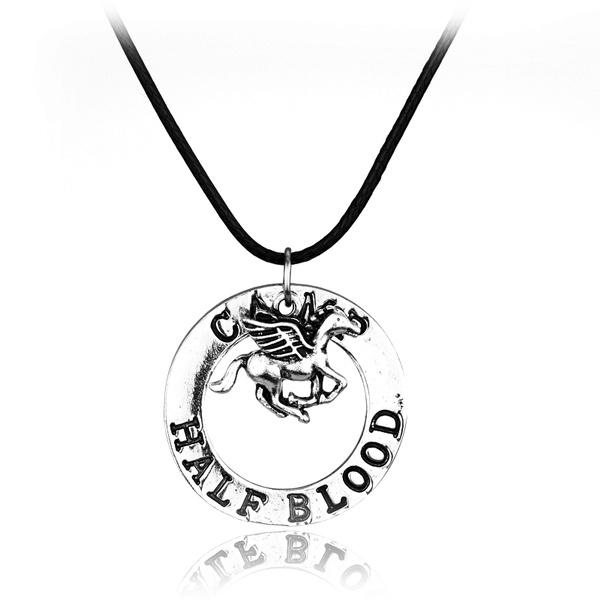 leatherropenecklace, horse, Jewelry, percyjacksonnecklace