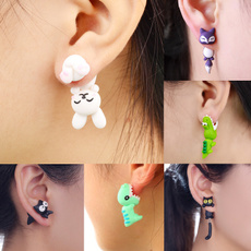 polymer, Moda, Animal, Stud Earring