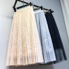 long skirt, Lace, tutuskirt, leaves
