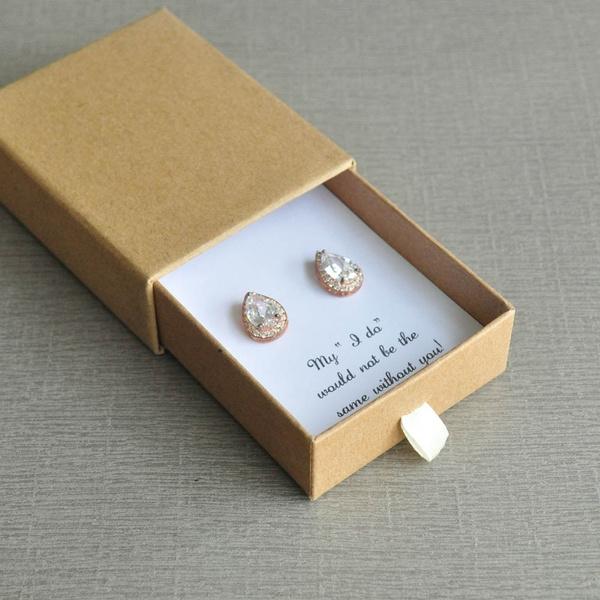 bridesmaidproposalcard, proposalearring, Jewelry, Gifts