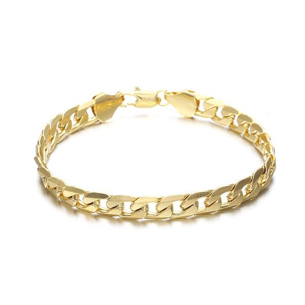yellow gold, Charm Bracelet, 18k gold, boyfriendgift