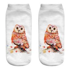 Owl, Cotton Socks, Colorful, Summer