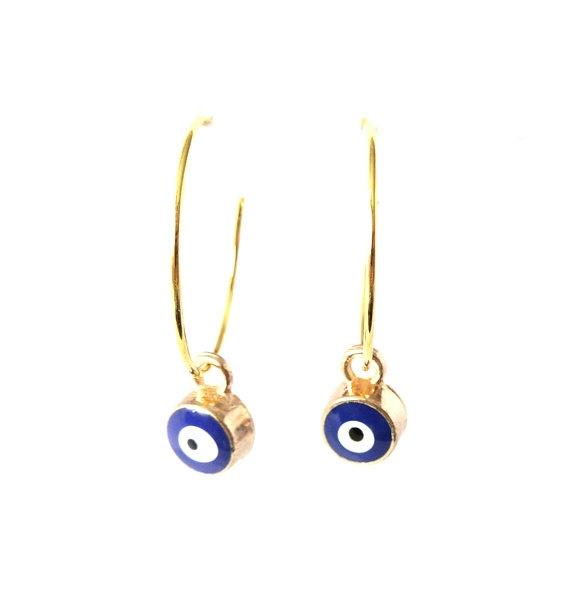 Hoop Earring, Dangle Earring, Jewelry, tinyevileyeminimalistearring