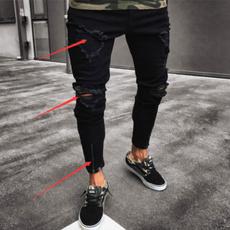 Fashion, men trousers, Bottom, rippedjean