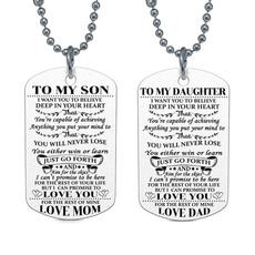 Steel, Necklaces Pendants, Love, militarynecklace