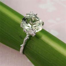DIAMOND, 925 sterling silver, wedding ring, Silver Ring