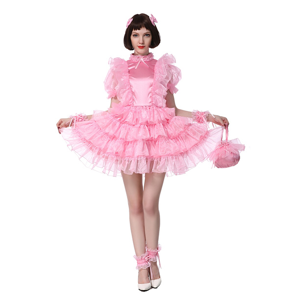 pink, sissypuffydres, highlaceneck, Necks