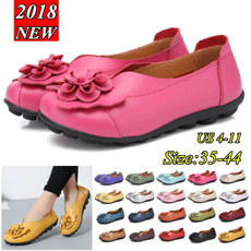non-slip, Flats, casual shoes, leather