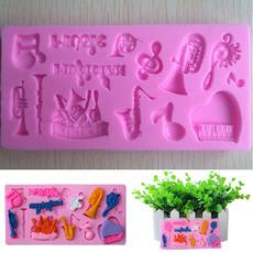 decoration, musicalinstrumentsmold, Baking, Silicone