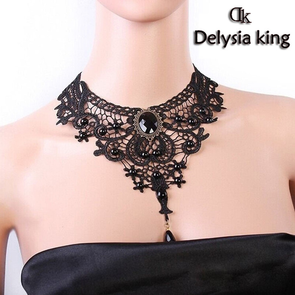 King, Goth, gemstonenecklace, Lace