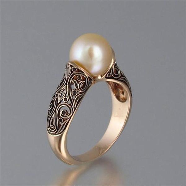 Antique, Wedding, Fashion, Rose Gold Ring