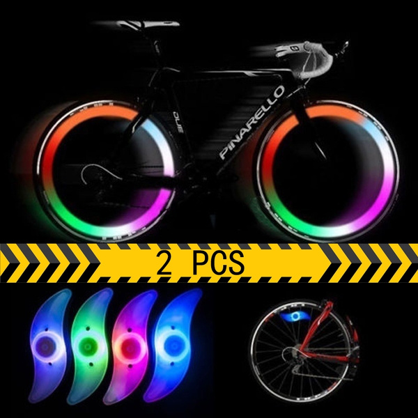 Bike Bicycle Cycling Wheel Spoke Wire Tyre Bright LED Flash Light Lamp Decor Hot