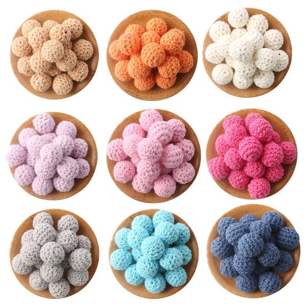 Toy, teethersforbabie, Jewelry, crochetbead