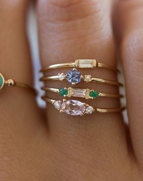 goldplated, yellow gold, Fashion, zirconring