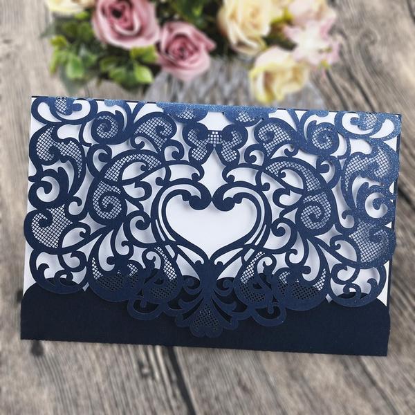 lasercut, weddinganniversary, invitationcard, Wedding Favors