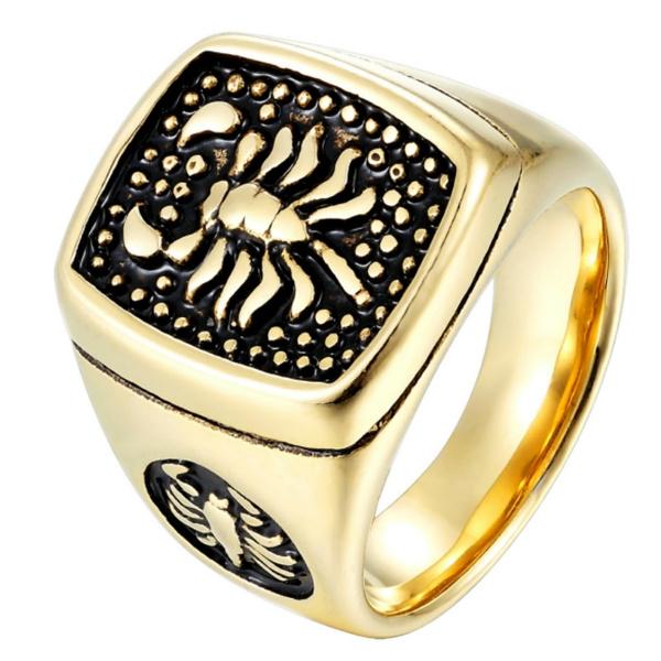 Steel, golden, Fashion Accessory, scorpion
