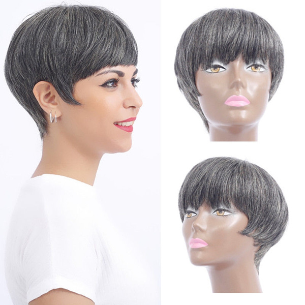 100humanhairwig, wig, Shorts, fashion wig