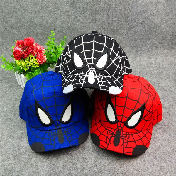 Cool Spiderman Cartoon Children Embroidery Cotton Baseball Cap Kids Hobbies Spiderman Cosplay Outdoor Sunshade Cap 3 Colors To Choose From Wish