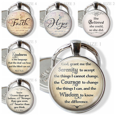 faithhopecouragekindnessgod, Fashion, Key Chain, Jewelry