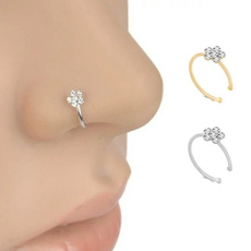 nosestudsampring, Flowers, Jewelry, Crystal Jewelry
