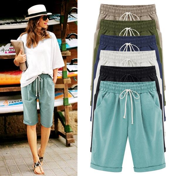 Summer, Beach Shorts, Sports & Outdoors, Elastic