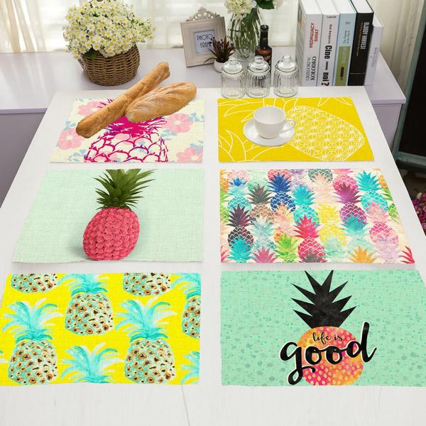 pineapplepattern, Coffee, dinnermat, Coasters