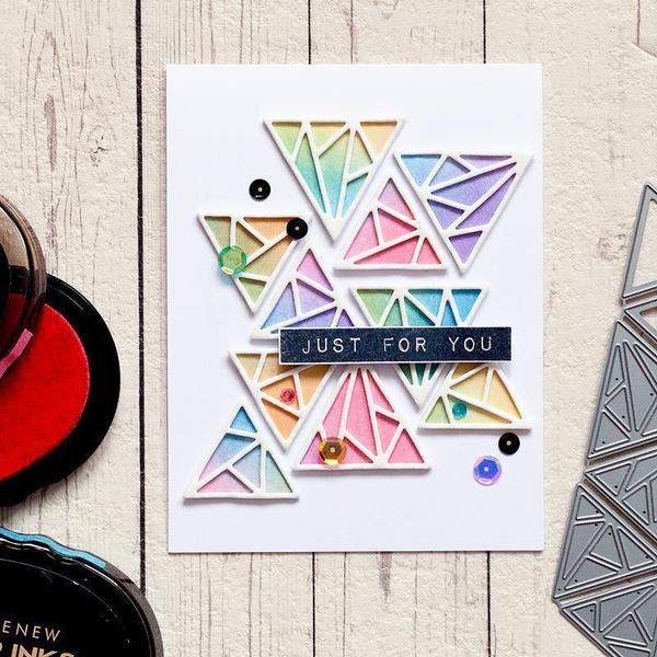 Craft, stencilstemplate, craftscrapbooking, Triangles