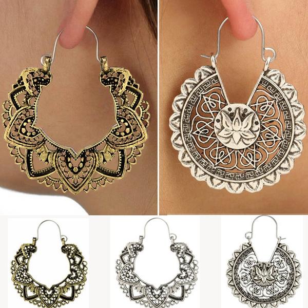 Antique, Women, Hoop Earring, Dangle Earring